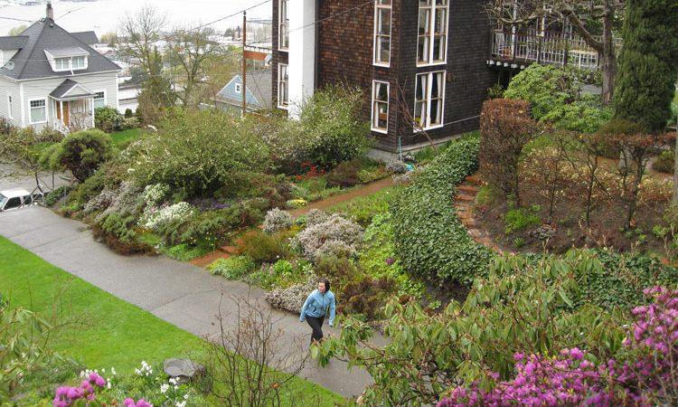 Garden banks as attractive garden feature