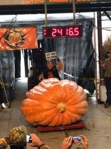 2416 Haist Largest Pumpkin Records