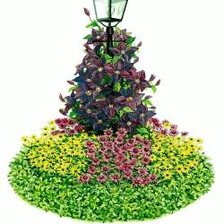 Artist concept of a Lamppost Half-Circle Garden Plan